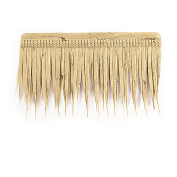 A brown yellow thatch image