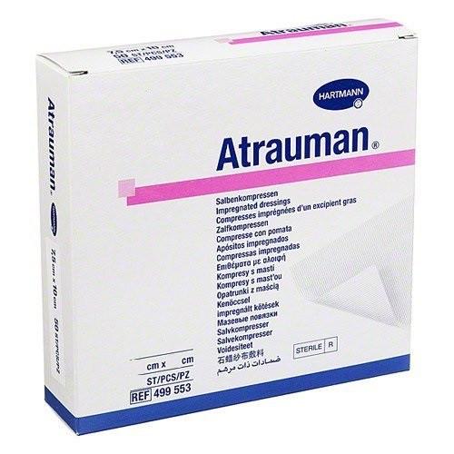 Buy Atrauman Dressing 5cm x 5cm, 7.5cm x 10cm, 10cm x 20cm, 20cmx30cm. Tulle impregnated dressing.  Buy Online From Medical Dressings the UK's Favourite Online Medical Shop.