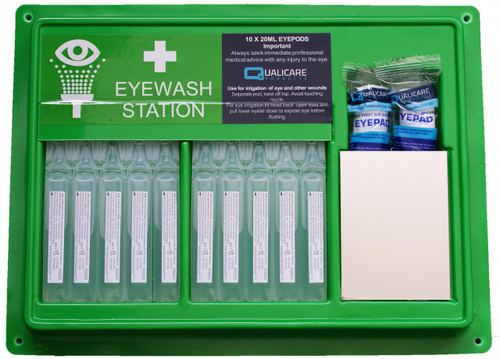 Qualicare Eyewash Eye Pod Station (with mirror)