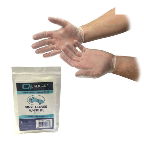 Disposable White Vinyl Medical/First Aid Gloves