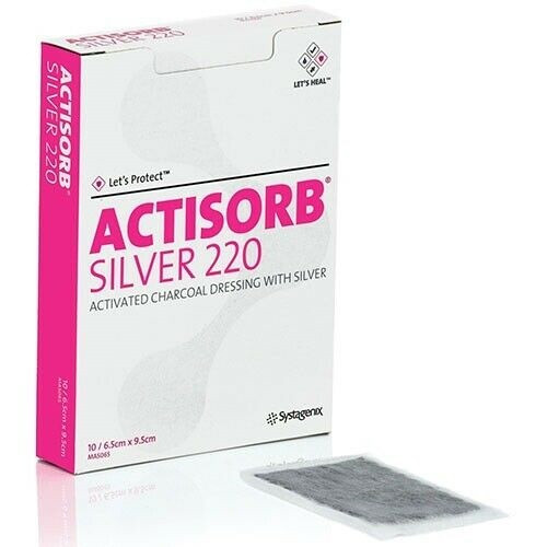 Actisorb Silver 220 Activated Charcoal Dressing