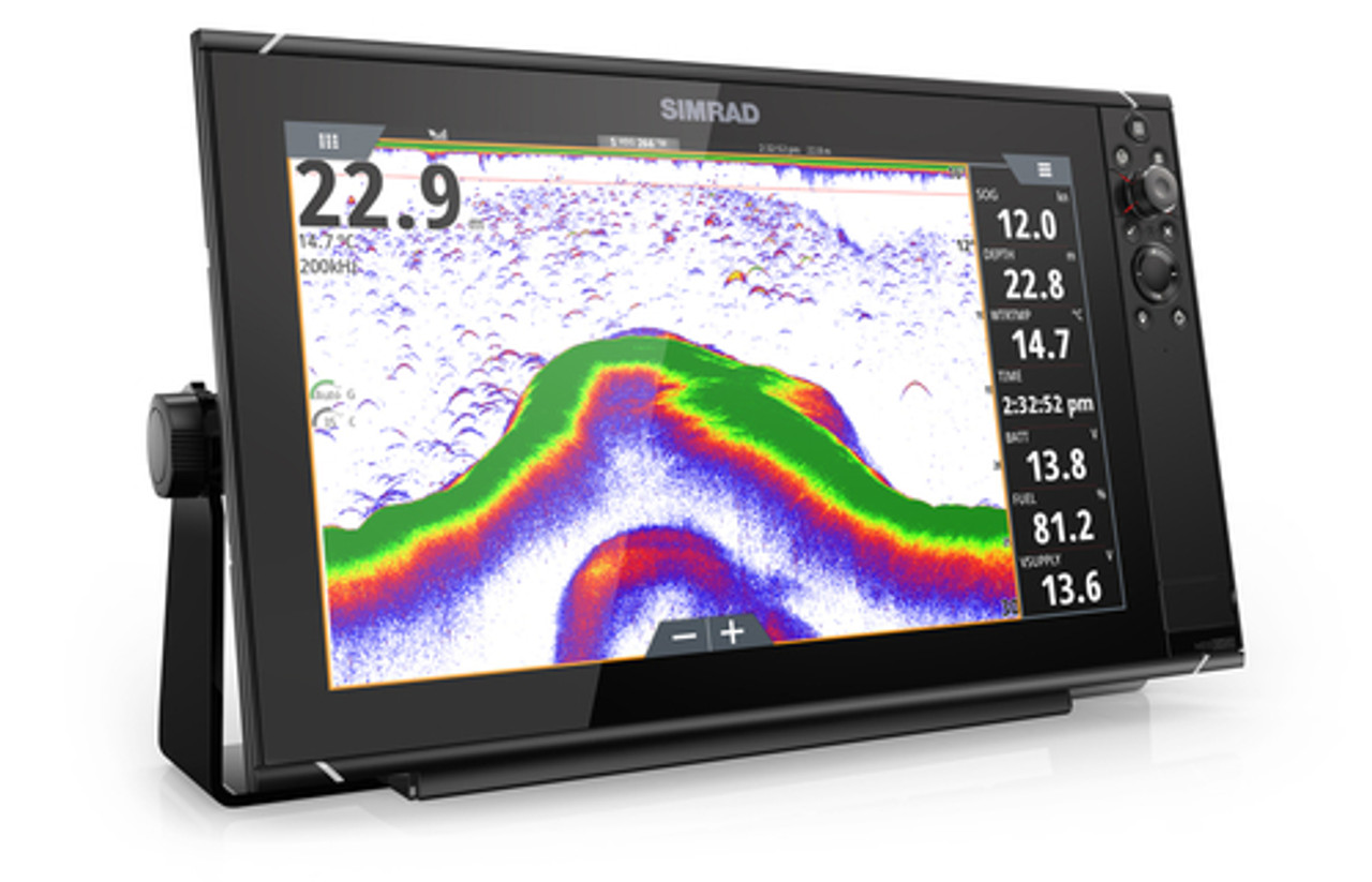 SIMRAD NSS16 evo3 Chartplotter 16-inch display with GPS, sounder, Wi-Fi &  HDMI out  Includes world basemap