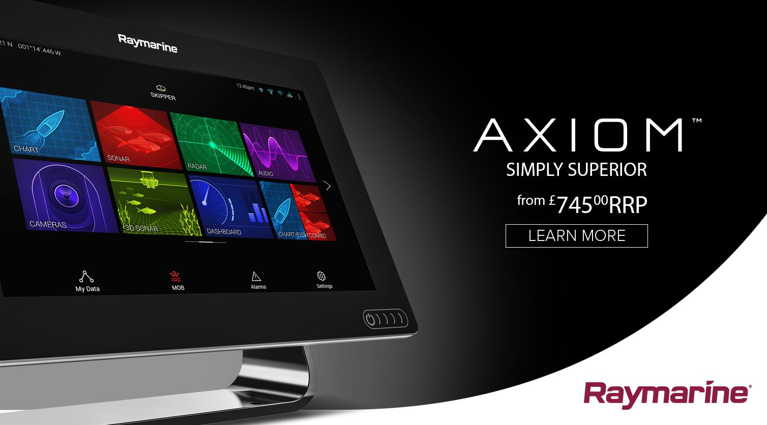 Inroducing the new Raymarine Axiom superior technology MFD