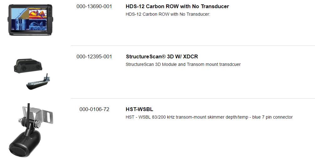 Lowrance HDS-12 Carbon ROW Med/High/3D Bundle