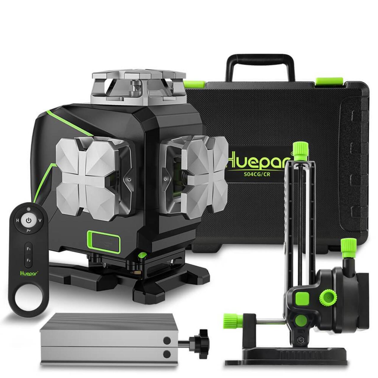 Huepar S04CG 4D Green Cross Line Laser Level