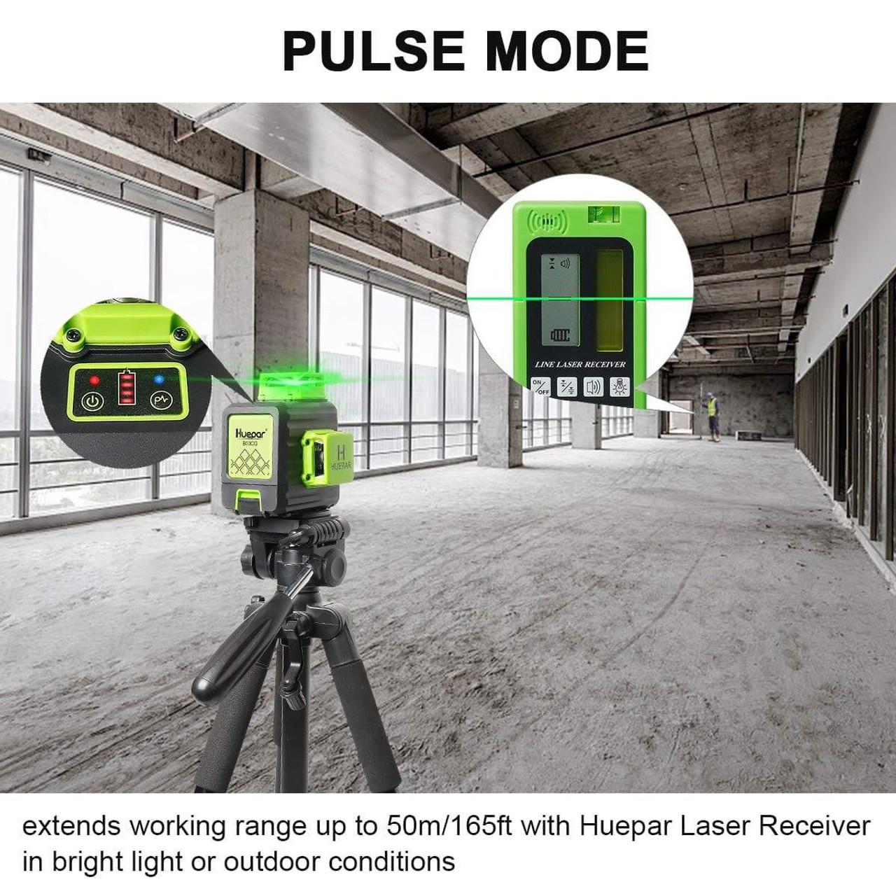 Huepar B03CG 3D Green Cross Line Laser Level