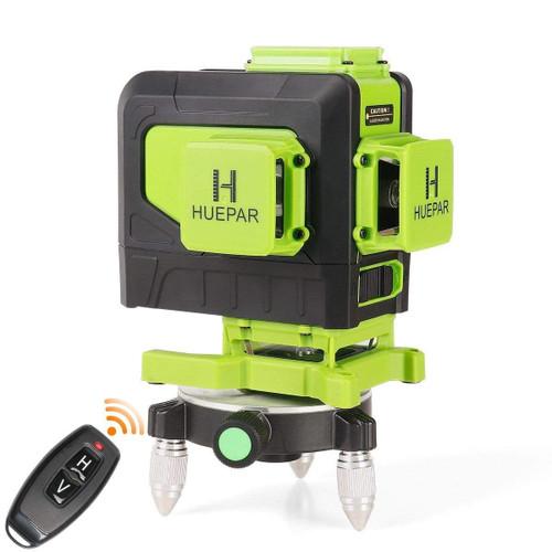 Huepar 903DG 3D Green Cross Line Laser Level