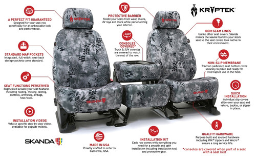 Skanda Seat Covers >> Kryptek Seat Covers Neosupreme Black Sides