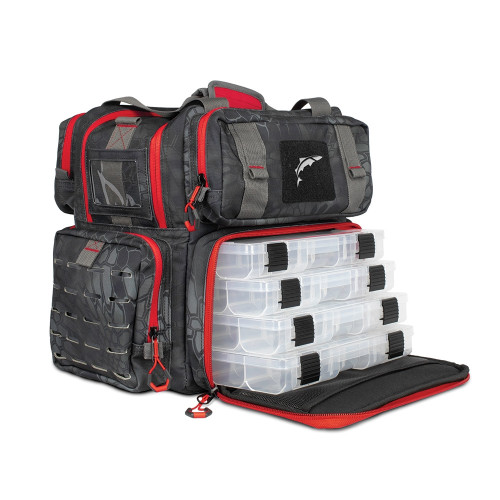 EGO Tackle Box Bag w/ 4 tackle trays