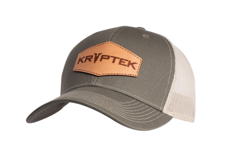 Leather patch Hat A Olive-Tan