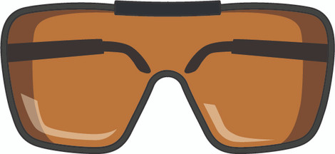 What is required by CE on all laser protective eyewear?