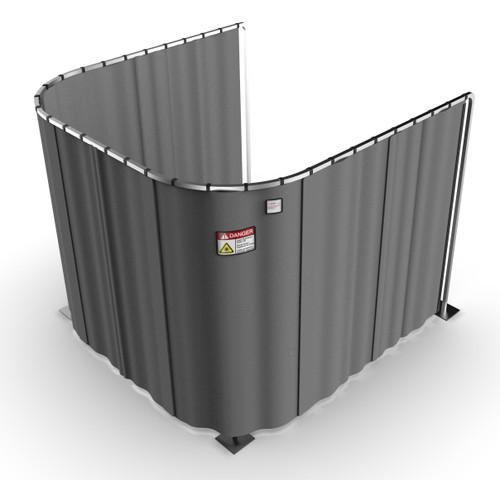 Laser Safety Curtain System - U-Shaped
