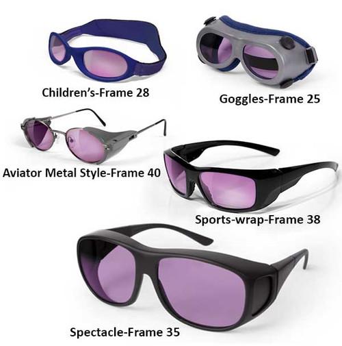 Helium-Neon Laser Safety Glasses