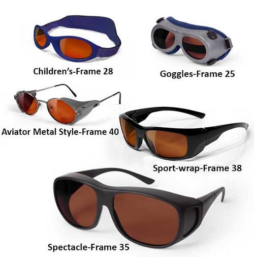 Glass Argon Laser Safety glasses
