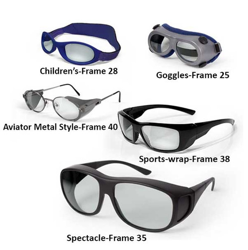 Multi-wavelength laser safety glasses
