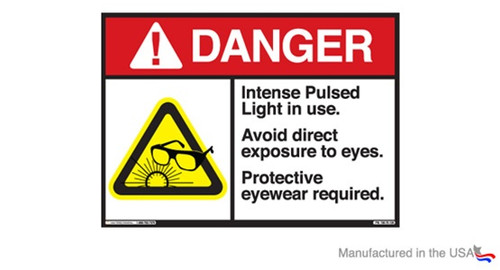 Intense Pulse Light (IPL) Danger Sign