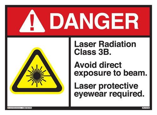 Class 3B Laser Safety Sign