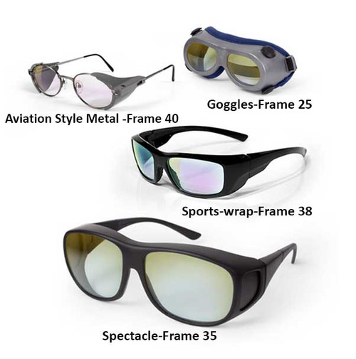 595 nm Helium-Neon Laser Safety Glasses and Goggles