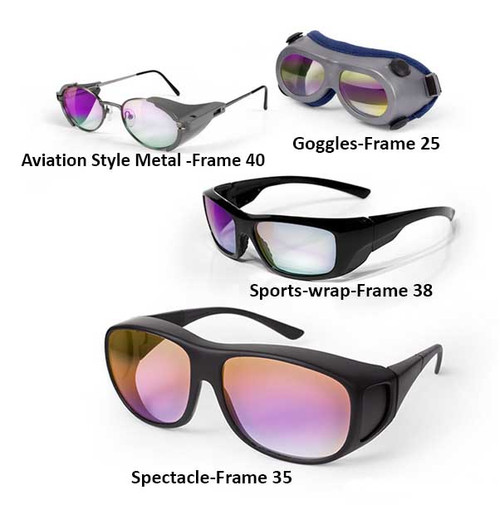 Dielectric Coated Laser Safety Glasses and Goggles