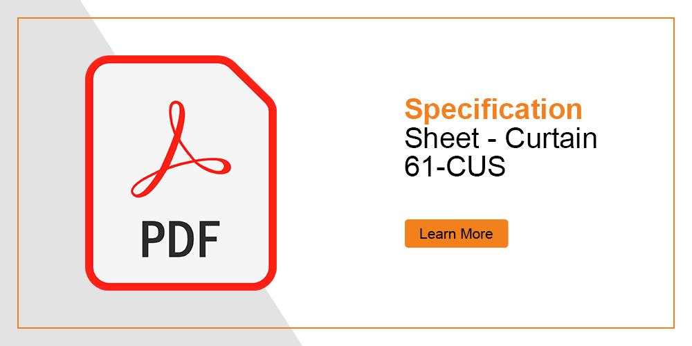 Specification Sheet - Custom Curtain 61