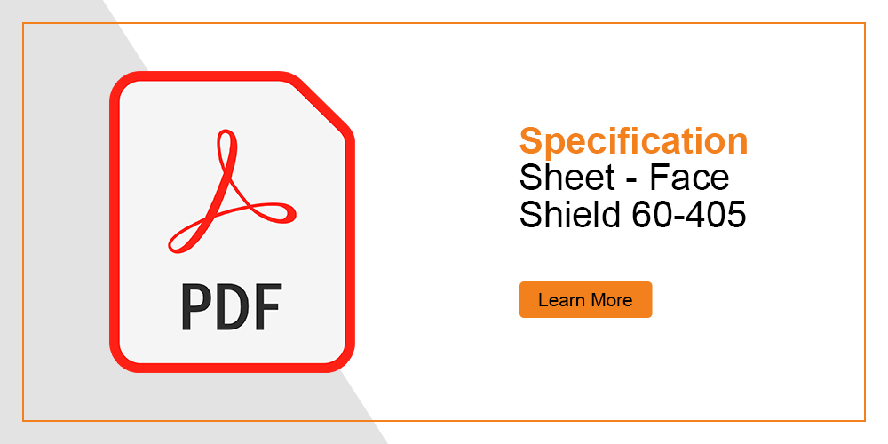 Specification Sheet - Face Shield Filter 405