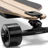 The Evolve GTR Bamboo Street Electric Skateboard Features Adjustable Truck Position for the Ideal Personalised Riding Feel
