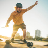 Freedom to Surf the Streets! Feel the Difference With the Evolve GTR Bamboo All-Terrain Electric Skateboard!