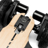 The Evolve GTR Bamboo All-Terrain Electric Skateboard Features Dual 1500W High-Performance Custom Made Brushless Out-runner Motors