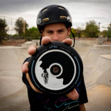 Tyler Chaffin With His Signature Fuzion Scooter Wheels