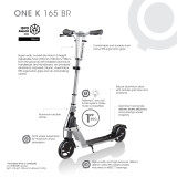 The Globber One K 165 Br Commuter Scooter Features