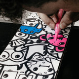 Get creative and design your griptape with the TRNSFR acrylic paint pens  on the TRNSFR griptape designs