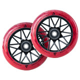 Scooter Hut DNA Wheels | 24mm x 120mm | Clear Red Marble/Black