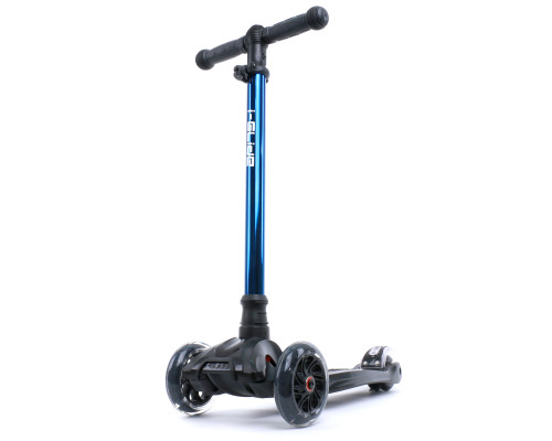 i-Glide Kids 3-Wheel Scooter | Black/Blue Neo