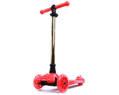 i-Glide Kids 3-Wheel Scooter | Red/Gold Neo