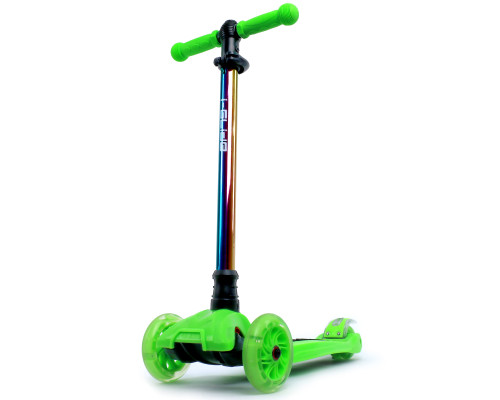 i-Glide Kids 3-Wheel Scooter | Green/Neo-Chrome