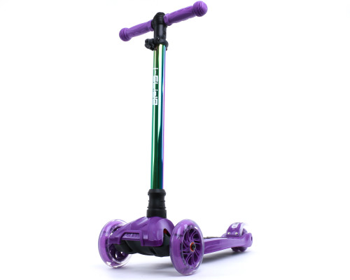 i-Glide Kids 3-Wheel Scooter | Purple/Neo-Chrome