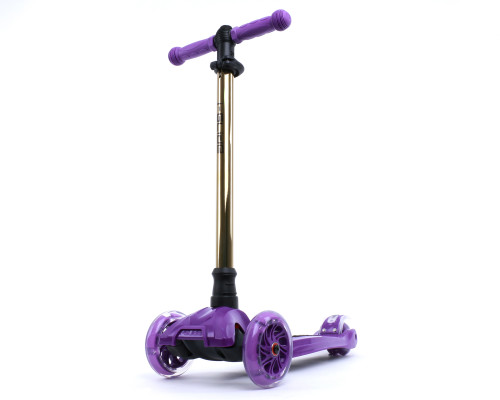 i-Glide Kids 3-Wheel Scooter | Purple/Gold Neo