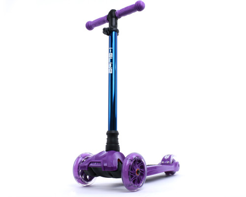 i-Glide Kids 3-Wheel Scooter | Purple/Blue Neo