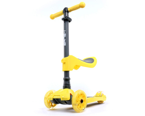 i-Glide Kids 3-Wheel Scooter Plus Seat | Yellow