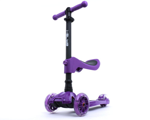 i-Glide Kids 3-Wheel Scooter Plus Seat | Purple