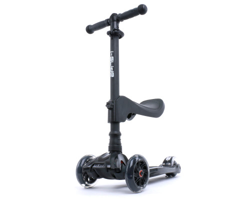i-Glide Kids 3-Wheel Scooter Plus Seat | Black