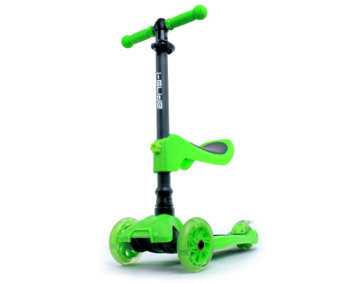 i-Glide Kids 3-Wheel Scooter Plus Seat | Green