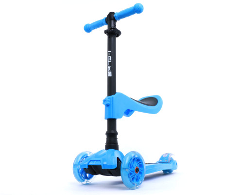 i-Glide Kids 3-Wheel Scooter Plus Seat | Blue
