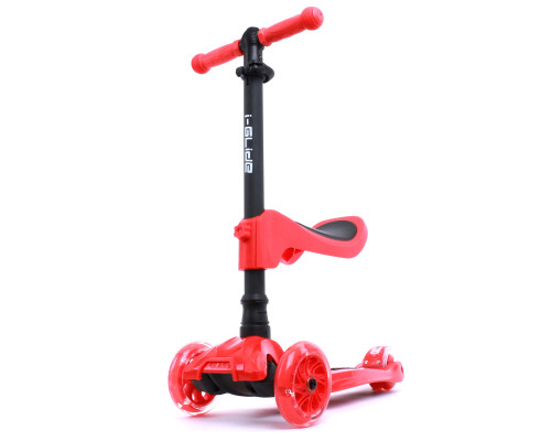 i-Glide Kids 3-Wheel Scooter Plus Seat | Red
