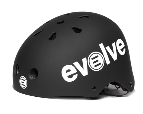 Evolve Electric Skateboard | Helmet With LED Lights | Matte Black