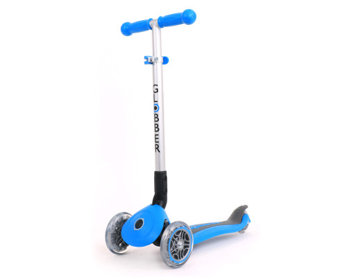 Globber Primo Foldable Lights Kids 3-Wheel Scooter | Sky Blue
