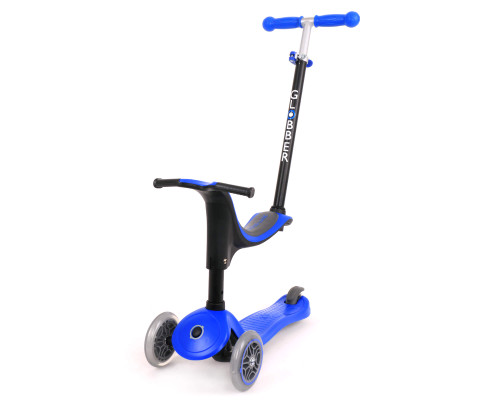 Globber Go Up Sporty Convertible Kids 3-Wheel Scooter | Navy