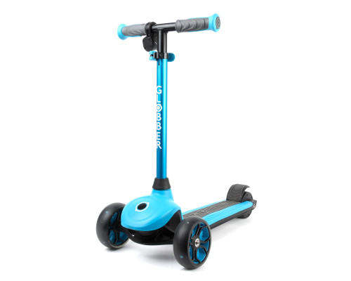 Globber 3-Wheel Kids Electric Scooter | ONE K e-Motion 4 | Sky Blue