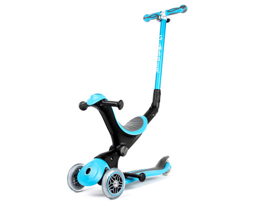 Globber Go Up Deluxe Convertible Kids 3-Wheel Scooter | Sky Blue