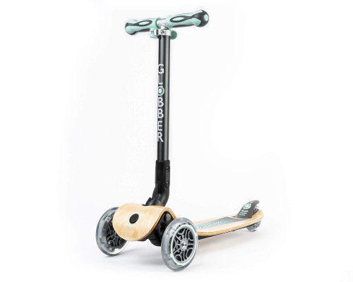 Globber Primo Wood Foldable Kids 3-Wheel Scooter | Mint